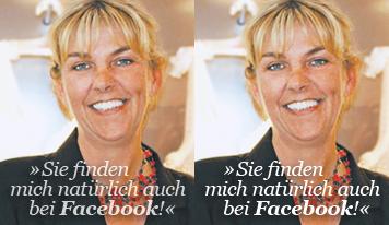 Sie finden mich auch bei Facebook